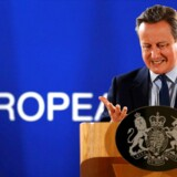 Auf Wiedersehen, au revoir, arrividerci, adios, goodbye: Afgående premierminister David Cameron forlod sent tirsdag aften sit sidste EU-topmøde – og nu er de 27 andre EU-lande i fuld gang med at lægge planer for fremtiden, efter at et flertal af briterne i sidste uge stemte for at forlade EU. Foto: Phil Noble/Reuters