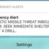 En medarbejder ved Hawaii Emergency Management Agency er blevet fyret som konsekvens af, at vedkommende i midten af januar ved en fejl udsendte en alarm om et missilangreb mod Hawaii. Reuters/Hugh Gentry/arkiv