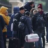 Dusinvis af mennesker ankom til den russiske amabassade i London om morgen d. 20. marts og forlod stedet med deres bagage i biler med reigistrerede diplomat-nummerplader.