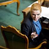 Udlændinge- og integrationsminister Inger Støjberg (V) i folketingssalen.