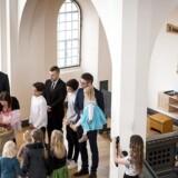 Barnedåb i Timotheuskirken. Her døbes Elvira af præst Jesper Engholm.