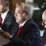 Økonom Miguel Segoviano fra Den Internationale Valutafond, IMF, holder pressekonference om den finansielle udvikling i Danmark i Nationalbanken, onsdag den 16. maj 2018.