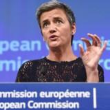 Facebook har vildledt EUs konkurrencekommissær, Margrethe Vestager, for at få godkendelse af opkøbet af beskedappen WhatsApp, mener EU-Kommissionen. Facebook risikerer en milliardstor bøde. Arkivfoto: John Thys, AFP/Scanpix