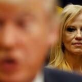 Kellyanne Conway, Trumps toprådgiver, tiltrækker sig igen opmærksomhed med opsigtsvækkende udtalelser. REUTERS/Kevin Lamarque