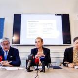 Udlændinge-, integrations og boligminister Inger Støjberg (V), justitsminister Søren Pind (V) og minister for børn, undervisning og ligestilling Ellen Trane-Nørby (V).