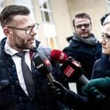 Liberal Alliances og resten af hovedbestyrelsen mødes for at drøfte om partiet skal fortsætte i trekløverregeringen. Her ankommer Joachim B. Olsen til Gammel Vindinge konferencecenter i Nyborg fredag den 12. januar 2018.
