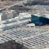 Den amerikanske efterretningstjeneste NSA, som blev afsløret af Edward Snowdens omfattende dokumentation, har nu fået stjålet noget af sin spionsoftware. Her ses NSAs hovedkvarter i Fort Meade i staten Maryland. Arkivfoto: Saul Loeb, AFP/Scanpix
