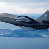 -Arkiv- De nye F35-kampfly kan få en anden placering end der, hvor de ifølge Forsvarets foreløbige planer har skullet stå ved Skrydstrup Flyvestation og Uldal by. - REUTERS/Lockheed Martin/Handout