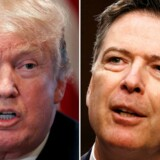 Trump og tidligere FBI-chef Comey. REUTERS/Carlos Barria, Jonathan Ernst/File Photos