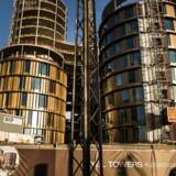 Det nye højhus Axel Towers på Axel Plads i København.