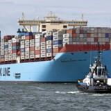 A.P. Møller - Mærsk, der ejer Maersk Line, er ikke begejstret ved udsigten til en handelskrig. Danske rederiers skibe anløb i 2016 amerikanske havne næsten 4.000 gange. Foto: Michael Kooren/Reuters