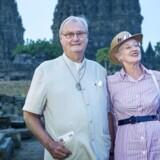 ARKIVFOTO: Prins Henrik og dronning Margrethe på statsbesøg i Indonesien i 2015.