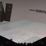 Galaxy Note 8 er Samsungs nyeste toptelefon med premiere 15. september. Foto fra Samsungs præsentation i New York