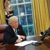 Præsident Trump i Det Ovale Værelse. Arkivfoto: Scanpix