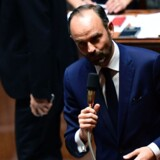 Frankrigs premierminister, Edouard Philippe, fremlagde tirsdag sin regerings reformplaner, der omfatter besparelser og ny bedre betingelser for arbejdsgivere og erhvervslivet. Scanpix/Martin Bureau