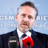 Udenrigsminister Anders Samuelsen (LA) holder pressemøde i Udenrigsministeriet i København om sanktioner mod Rusland, mandag den 26. marts 2018. Giftangrebet på en russisk eksspion i Storbritannien får Danmark til at udvise to diplomater til Rusland. USA, Canada og 13 andre EU-lande gør det samme. Det skriver Ritzau, mandag den 26. marts 2018.. (Foto: Mads Claus Rasmussen/Ritzau Scanpix)