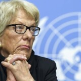 Carla del Ponte, Member of the Independent Commission of Inquiry on the Syrian Arab Republic, speaks to the media about the Independent Commission of Inquiry on the Syrian Arab Republic, during a press conference, at the European headquarters of the United Nations in Geneva, Switzerland, 01 March 2017. EPA/MARTIAL TREZZINI