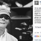 Skærmbillede af Björn Natthiko Lindeblads lykønskning til Lasse Gustavson, som Facebook i første omgang blokerede for.