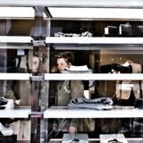 Arkivfoto fra en dansk modebutik.