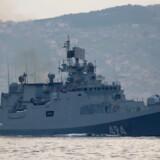 Arkivfoto af det russiske krigsskib Admiral Grigorovich, der nu er på vej til Syrien.