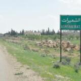 "Billede fra byen Shayrat (""ash-Shairat"")."