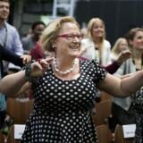 Women Deliver-direktør Katja Iversen vil sørge for at bringe MeToo-emnet på bordet i G7's ligestillingspanel.. Her ses Katja Inversen til morgendans i Women Deliver i 2016.