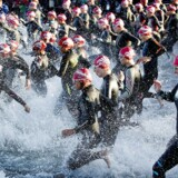 KMD Ironman Copenhagen 2014.De 3000 deltagere skal svømme 3, 8 kilometer, cykle 180 kilometer og afslutningsvis løbe et maraton.