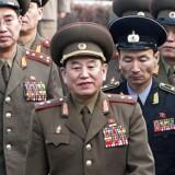 Arkivfoto: På grund af amerikanske sanktioner imod ham har Kim Young Chol normalt ikke tilladelse til at rejse ind i USA.