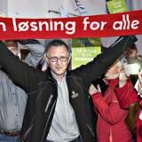 OK18 Forhandlinger i Forligsinstitutionen lørdag den 28. april 2018. Der venter en stor opgave, når Danmarks Lærerforening skal overbevise sine medlemmer om at godkende overenskomsten. Kredsformændene er afgørende, siger forsker. Det skriver Ritzau, mandag den 30. april 2018.. (Foto: Jens Nørgaard Larsen/Ritzau Scanpix)