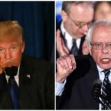 Det bliver ikke kønt, når de andre kandidater skal gå efter d'herrer Trump og Sanders.