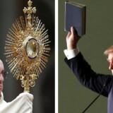 Millioner læste historien om pave Frans' støtte til Donald Trump. Problemet var, at historien var frit opfundet.