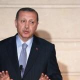 Under Erdogans besøg i Frankrig skriver Tyrkiet under på en militær kontrakt, der løber 18 måneder frem.