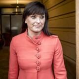 Innovationsminister Sophie Løhde foran Forligsinstitutionen i København, hvor overenskomstforhandlingerne er sluttet omkring klokken 19.00, mandag den 23. april 2018.. (Foto: Mads Claus Rasmussen/Ritzau Scanpix)
