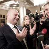Har de Konservative og Dansk Folkeparti læst det med småt i regeringens antiradikaliseringsplan, spørger jurist Jacob Mchangama. Her ses K-formand Søren Pape Poulsen og DF-formand Kristian Thulesen Dahl.