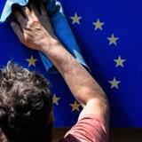EU kan roligt pudse glorien, fordi økonomien udvikler sig ganske positivt. Foto: John MacDougall/AFP