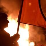 Demonstrationer i Hamburg i protest mod G-20 topmødet. / AFP PHOTO / Christof STACHE