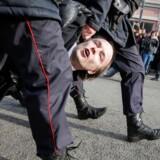 Alene i Moskva anholdt politiet 600 demonstranter. Foto: M. Shemetov