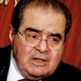 Højesteretsdommer Antonin Scalia talte i februar ved Economics Club of New York in New York. Samme måned døde han i Marfa, Texas. Foto: Peter Foley/EPA