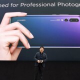 Huawei lancherer deres nye smartphone, P20 i Paris d. 27. marts 2018.