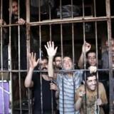 Syriske fanger fra fængsel i Aleppo den 22. maj 2014. Alle de krigsførende parter i Syrienkrigen har henrettet krigsfanger. Men ifølge ny rapport fra Amnesty International har det syriske regime systematisk hængt op til 13.000 fanger på fem år.