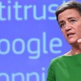 Den rekordstore bøde på 18 milliarder dollars, som EUs konkurrencekommissær Margrethe Vestager i juni idømte Google, vil blive bekæmpet med næb og kløer - og rigtigt mange advokater. Arkivfoto: Emmanuel Dunand, AFP/Scanpix