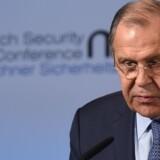 Ruslands udenrigsminister, Sergej Lavrov, siger, at han ikke har set nogle kendsgerninger, som understøtter beskyldninger om, at Rusland foretog hackerangreb i USA og andre lande for at påvirke udfald af valg. Scanpix/Christof Stache