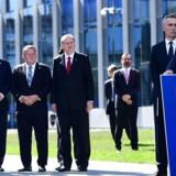 USAs præsident, Donald Trump, holder tale ved NATO-topmødet forleden i Bruxelles, hvor bl.a. også statsminster Lars Løkke Rasmussen deltog.