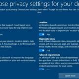 Den kommende opdatering af Windows 10 vil forsøge at gøre det lettere for brugerne at forholde sig til - og slå fra -, hvilke data der kan tilgå f.eks. Microsoft, her vist i den engelske udgave. Også Android bliver strammet op. Foto: Microsoft