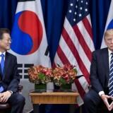 Moon Jae-in og Donald Trump ved deres mødes den 21. september.