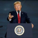 Donald Trump taler i Harrisburg, Pennsylvania, USA, d. 11. oktober 2017. REUTERS/Joshua Roberts