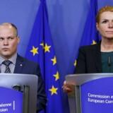 Her ses Inger Støjberg i selskab med Sveriges justits- og indenrigsminister, Morgan Johansson, der dengang også var svensk migrationsminister, i januar 2016.