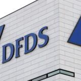 DFDS logo i København (Foto: Brian Bergmann/Ritzau Scanpix)