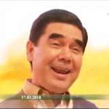 Turkmenistans diktator Gurbanguly Berdymukhammedov optræder på en ny musikvideo, der ifølge landets statslige nyhedsbureau er en »gave til alle kvinder«. Foto: Khronika Turkmenistana
