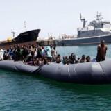 Illegale migranter i Libyen.